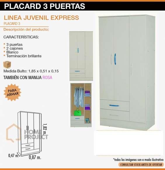 Placard 3 puertas $3500 oroño 4117 celu 3416564585