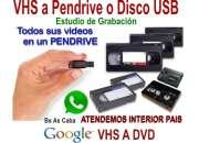 VHS Video a Pendrive o Disco Rigido