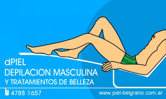 Depilacion para hombres. depilacion masculina