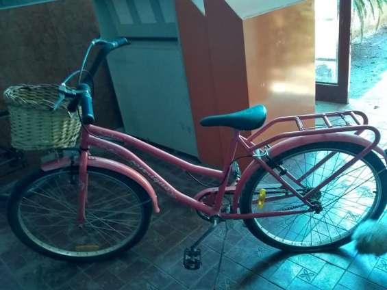 Bicicleta dama con canasto.