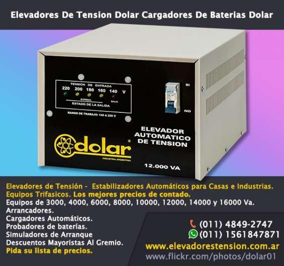 Elevador automático tensión 12000 va dolar r 140v para motores trifasicos