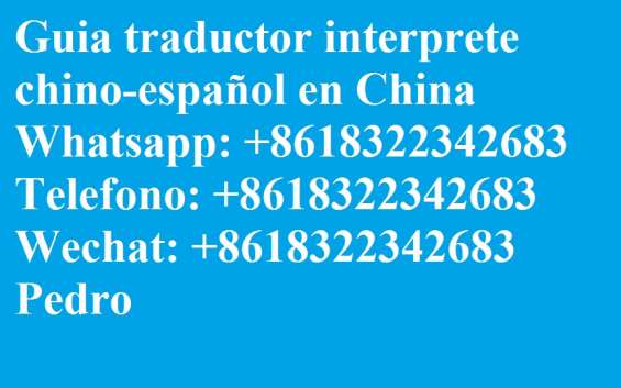 Interprete traductor guia chino español en shanghai china