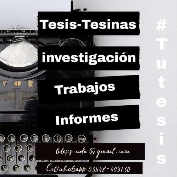 Tesis, tesinas, y monografías - servicio de asesoría